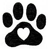 Dog Rubber Stamps - Jumbo Heart Paw-DSP1008F (2-1/4 x 2-1/4)