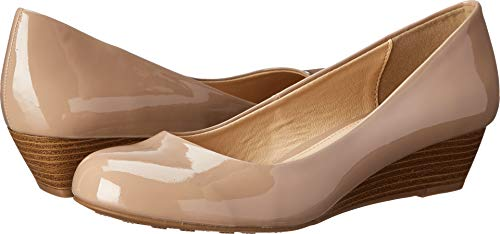 Dirty Laundry Women's DL Marching Wedge Pump New Nude 8 M US M