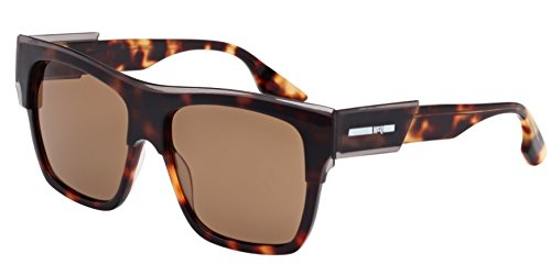 McQ - MQ0004S, Wayfarer, acetate, men, TRANSPARENT GREY HAVANA/BROWN(003 A), 55/15/140 (Mcq Uk)