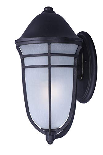 (Maxim 34203WPAT Westport DC 1-Light Outdoor Wall, Artesian Bronze Finish, Wisp Glass, MB Incandescent Incandescent Bulb , 9W Max., Wet Safety Rating, 3000K Color Temp, Shade Material, 800 Rated Lumens)