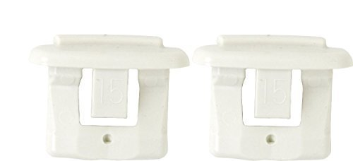 Profile End - Pack of 2 Dishwasher End Cap for Upper Rack Rail (Dish Rack Stop Clip) New OEM GE, Kenmore, Hotpoint