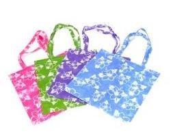 Hibiscus Print Non woven Material Beachbag