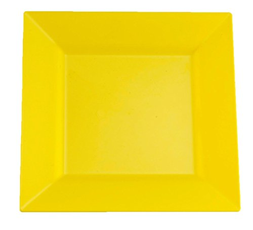 Kaya Collection - Buttercup Yellow Plastic Square 9.5