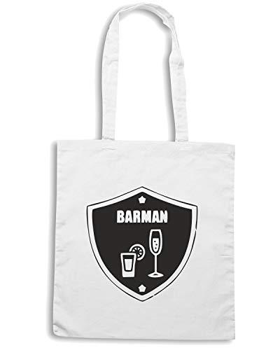 Borsa Shopper Shirt Speed BEER0156 Bianca BARMAN ZwHnSqA