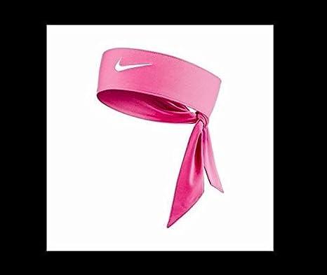 New Pink Nike Dri-Fit Head Tie 2.0 White Swoosh Headband Tennis Basketball  Yoga