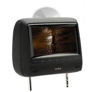 Tela encosto de cabeça Orbe 7 Preta Wide c/DVD HD
