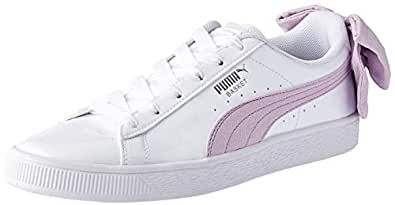 PUMA Women's Basket Bow Sb WN's, White-Winsome Orchid, 6 US