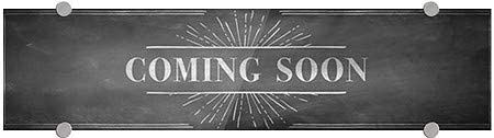5-Pack Chalk Burst Premium Acrylic Sign Coming Soon CGSignLab 24x6