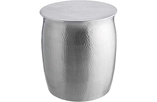 Habitat Orrico Hammered Aluminium Side Table Silver Amazoncouk - Hammered silver side table
