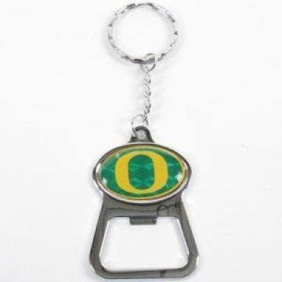 Stockdale Oregon Ducks Metal Key Chain and Bottle Opener W/Domed Insert