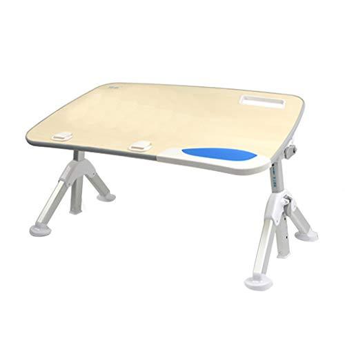 El soporte plegable de escritorio del ordenador portatil, escritorio de la computadora con una cama, un bastidor de aluminio portable ajustable, inclinacion mesa, altas patas plegables ergonomicas aum