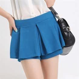 Spring New Korean Fashion Solid Color Ultra-thin Skirts Shorts Sexy Middle Waist Fashion Holiday Skirts