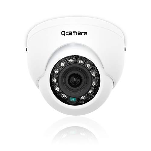 Q-camera Mini Dome Security Camera 1080P 2MP 4 in 1 TVI/CVI/AHD/CVBS 1/2.7″ Sensor 2.8mm Lens 33ft IR Night Vision Surveillance System Camera for Indoor