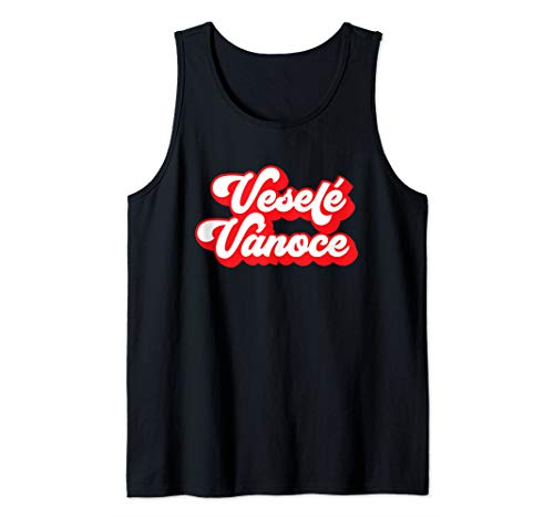 Merry Christmas | Czechia Translation | Veselé Vánoce Tank Top (Christmas Translation Merry)
