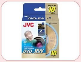 JVC DVD-RW 1.4Gb 8cm 30min Spindle 10 camcorder mini dvd 1.4 gb jvc dvdrw