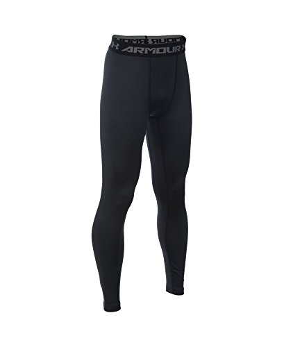 Under Armour Boys' ColdGear Armour Leggings, Black (001), Youth Large