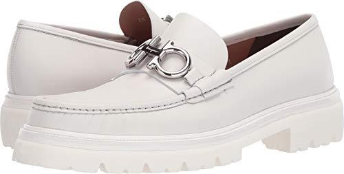 Salvatore Ferragamo Men's Bleecker Loafer Off-White 7 E (M) US