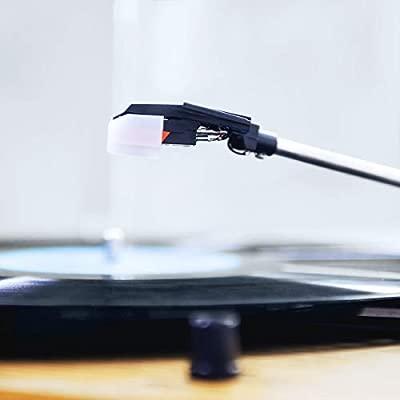 Tocadiscos, VIFLYKOO Tocadiscos Bluetooth para Discos de Vinilo con 33/45/78 RPM Altavoces estéreos incorporados,con RCA y Line in Montado - Madera ...