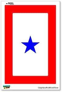 American Vinyl 1 Blue Star Military Service Flag Sticker Army one Parent mom dad Served