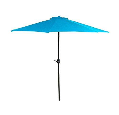 7.5' Outdoor Patio Powder-Coated Steel Market Umbrella - Turquoise