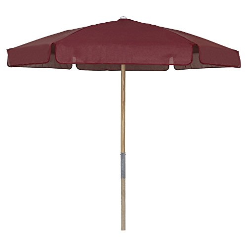 Market Fiberbuilt Umbrella (Fiberbuilt 7.5 Market Beach Umbrella; Burgundy)