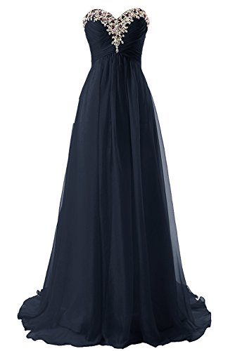 - JAEDEN Prom Dress Bridesmaid Dresses Long Chiffon Formal Evening Gown A line Navy Blue US16W