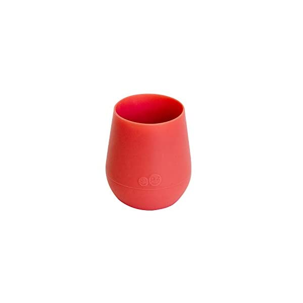 ezpz Tiny Cup (Coral) – 100% Silicone Training Cup for Infants – Designed by a Pediatric Feeding Specialist – 4 months+