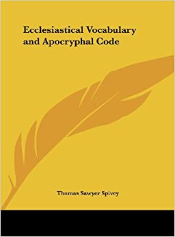 Book Ecclesiastical Vocabulary and Apocryphal Code