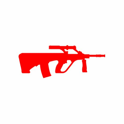 AUG - Steyr - A1 - Red - Sticker - Decal - Die Cut