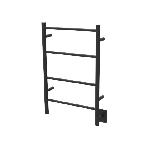 QBC Bundled Amba Heated Towel Warmers - Jeeves - ISMB Model I Straight - Matte Black Finish 20.5 in W x 31 in H - 60 to 80 Watts 0.5 to 0.75 Amps - Plus Free QBC Towel Warmer Guide