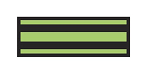 Aspen Surgical 153014EEA I.D. Sheet Tape, 8 1/2'' x 11'', Black/Lime Green by Aspen Surgical