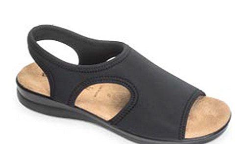 VALLEVERDE - Zapatillas de estar por casa para mujer negro