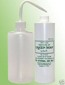 Cosco Green Soap 1 Pint + squeeze bottle - Needles Green