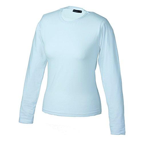 JAMES & NICHOLSON - Camiseta - Básico - Manga Larga - para mujer blanco