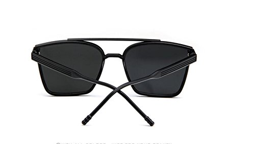 gafas sol gran personalidad Box plaster Bright sol sol trama la de gafas GLSYJ retro gafas black haz de LSHGYJ de doble gafas la Colorido FYqwFfI