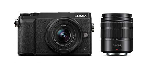 PANASONIC LUMIX GX85 4K Digital Camera, 12-32mm and 45-150mm Lens Bundle, 16 Megapixel Mirrorless Camera Kit, 5 Axis In-Body Dual Image Stabilization, 3-Inch Tilt and Touch LCD, DMC-GX85W (Black)