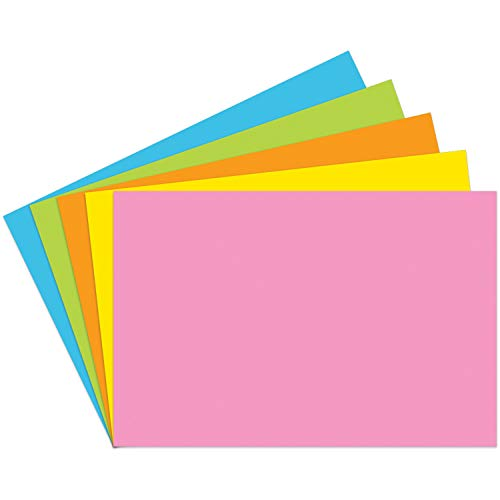 Top Notch Teacher Products TOP361 Blank Brite Assorted Index Cards, 1