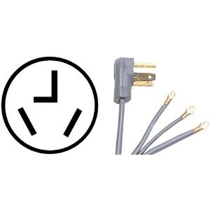 Replacement Cord Cable for Samsung - 7.4 Cu. Ft. 11-Cycle Steam Electric Dryer (DV48H7400EW)