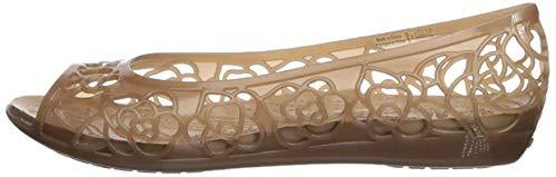 Crocs Women's Isabella Jelly Flat W Ballet, bronze/gold, 11 M US