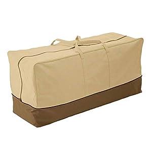 CHEYLIZI Bolsa de almacenamiento para cojines de muebles, extra grande, resistente al agua, para exteriores, jardín, patio, tumbona, cojín organizador (152 x 71 x 51 cm) (tela Oxford 420D)