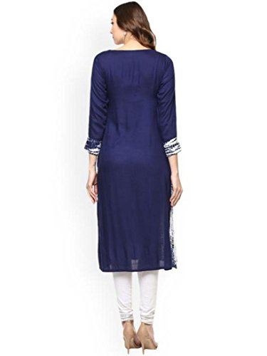 Women Dream Fashion Blue Dress Angel Straight White Kurta Kurti amp; wvBqxOv