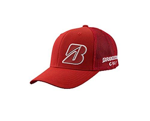 NEW Bridgestone Golf Border B Collection Red/White Snapback Adjustable Hat/Cap by Bridgestone (Image #1)
