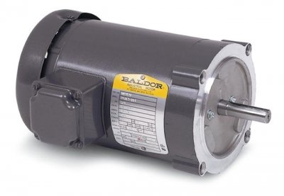 Baldor Electric, VM3538-57.5HP, 1425RPM, 3PH, 400V;230V, 56C Frame, C-Face Flange, Footless, TEFC, General Purpose Motor ()