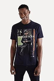 Camiseta Estampada Influencer Rock Vj Reserva
