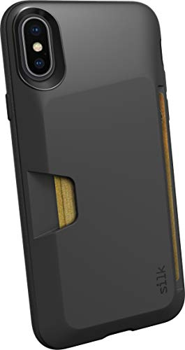 Silk iPhone X / XS Wallet Case - Wallet Slayer Vol. 1 [Slim Protective Vault Grip Credit Card Cover] - Black Tie Affiar
