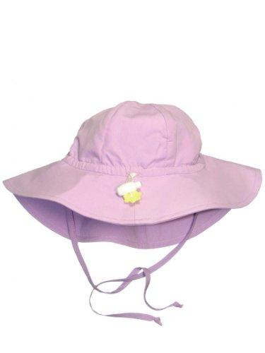 Iplay Baby Infant Toddler Unisex UPF 50 Solid Brim Sun Hat (Lavender, 9-18 Months)
