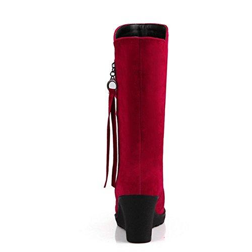 lato H Rubber Pendenza Marrone HQuattro stagioni neve con slip laterale Beige Slip Donne il Rubber Boot 39 Wear Black Rosso di Beige Cilindro Non rvTwrqn