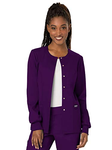 (Cherokee Women's Snap Front Warm-up Jacket, Eggplant, XXXXX-Large )
