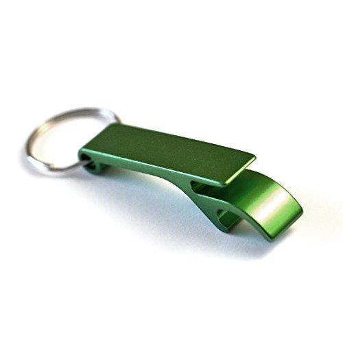 Keychain Bottle Opener - bartender bottle opener - Best Aluminum Bottle/Can Opener - Compact, Versatile & Durable - Vibrant Colors - Premium Keyring Bottle Opener - Ergonomic Design Green (Keychain Bottle Opener Lighter)