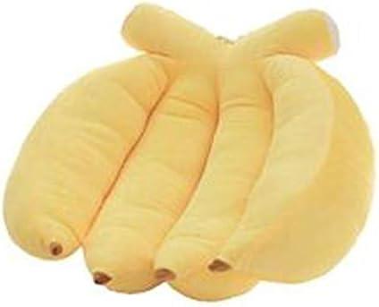 [ミートン] フルーツバナナ枕クリエイティブラブ枕かわいいクッション枕枕枕枕ぬいぐるみ 抱き枕ふわふわ柔らか可愛い 子供へのプレゼント おもちゃ (イエロー,35cm)